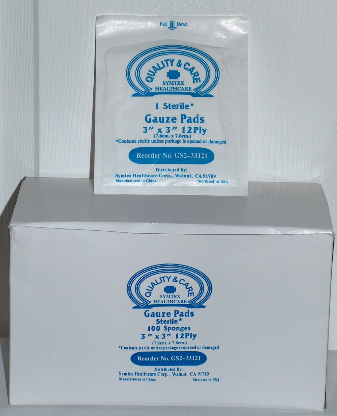 Sterile Gauze Pads 3 in. x 3 in. - 100/Box