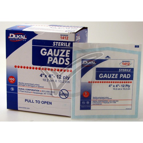 Sterile Gauze Pads 4 in. x 4 in. - 100/Box