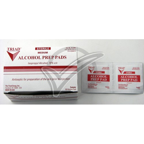 Alcohol Wipes (Medium) - 100 Box