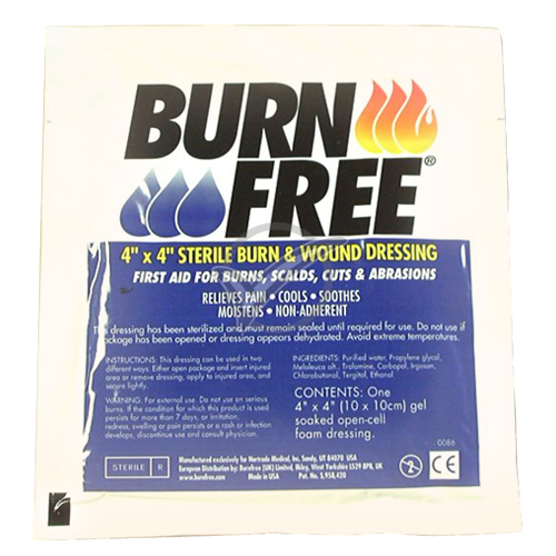 Burn Free 4 in. x 4 in. Gel dressing