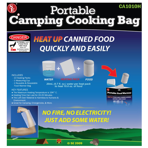Cooking Bag with 10 heating pads