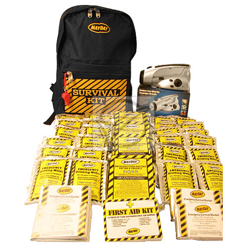 Economy Emergency Kit - 3 Person Backpack