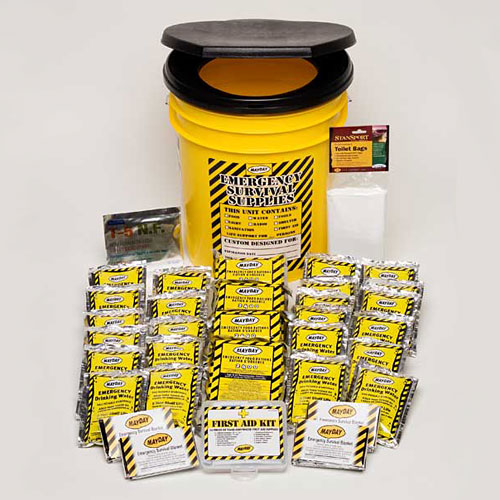 Economy Emergency Kit - 4 Person Honey Bucket Kit