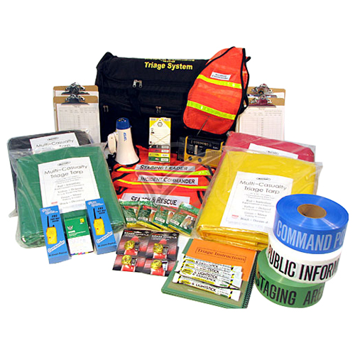 Triage and Incident Command Kit on Wheels - 37 Piece