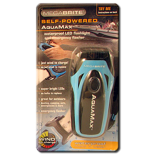 Mega Brite Dynamo Flashlight Waterproof Aqua Max