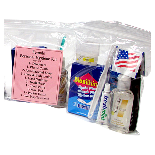 12 Piece Female Personal Hygiene Kit