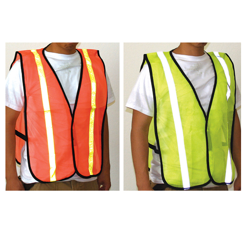 Orange Safety Vest with Reflective Stripes