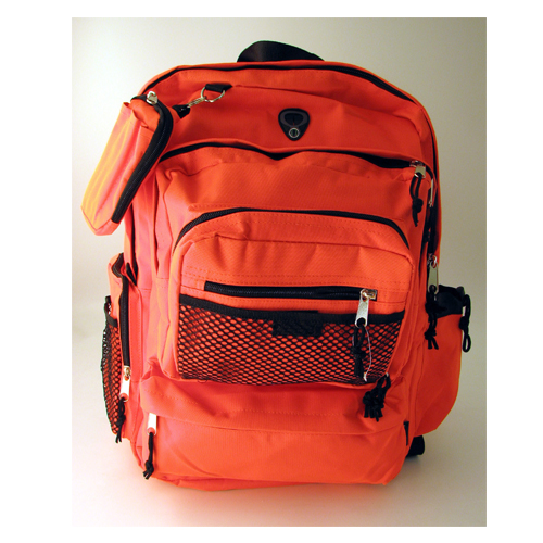 High Visibility Orange Deluxe Backpack