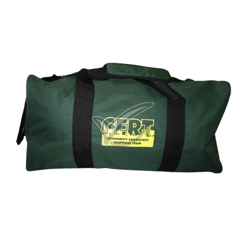 Green Duffel Bag with CERT Logo