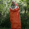 HeatStore Reflective Sleeping Bag-clamshell