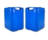2 - Blue 5 Gallon Water Containers W/ Tamper Cap