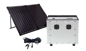 Humless 1500 Portable Power Fuelless Generator - 0.64kWh - Bundle with 2 Solar Panels
