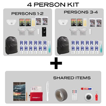 Quick Start Emergency Kit-4 Person