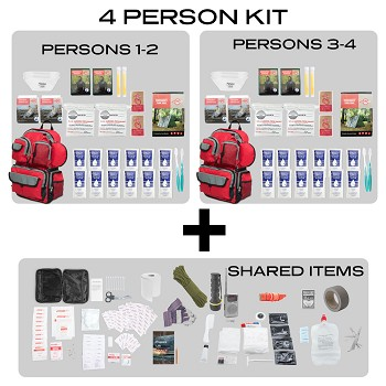 Family Prep Survival Kit-4 Person