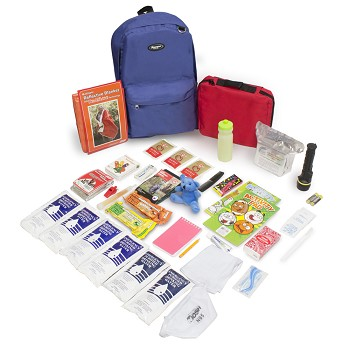 Keep-Me-Safe Children's Survival Kit - Royal Blue Backpack