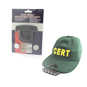Clip On  5 Led Cap &  Hard Hat Light