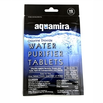 Aquamira Water Purification Tablets- 12 Pack..