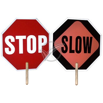 Hand Held Stop & Slow Sign - 2 sided