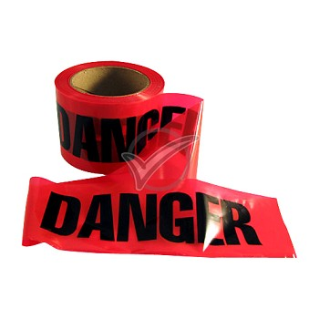 "Red ""Danger"" Caution Tape 3 in. x300 ft."