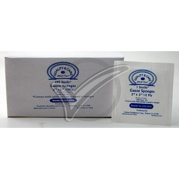 Sterile Gauze Pads 2 in. x 2 in. - 100/Box