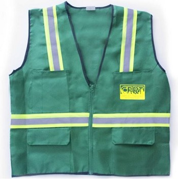 CERT Safety 6 pocket Jacket / Vest With Reflective Stripes Printed