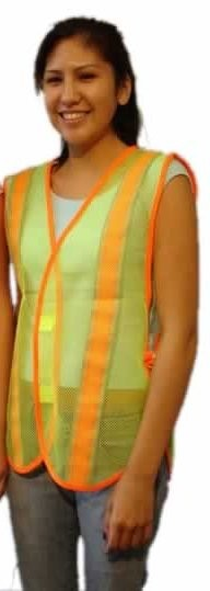 Safety Vest - Lime Green with Reflect Tape