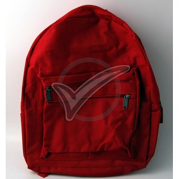 Adult Size Red Backpack (Poly) Blank