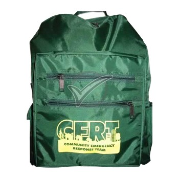 CERT Backpack -Green with Logo