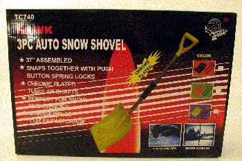 Easy Storage Three Piece Auto Snow Shovel