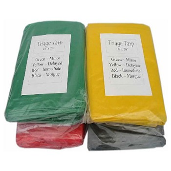 Set of 4 Triage Tarps - 16' x 20'