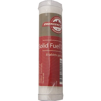 Solid Fuel Tablets Disk 8pcs Tube